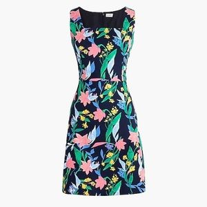 Jcrew size 6 BNWT linen dress navy/floral